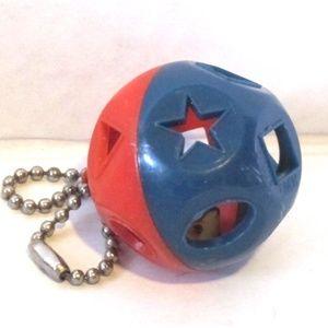 Tupperware Vintage Shape-O Ball Keychain